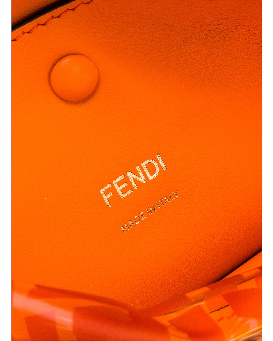 Image 7 of Fendi Kan I Small Logo Crossbody Bag in Orange