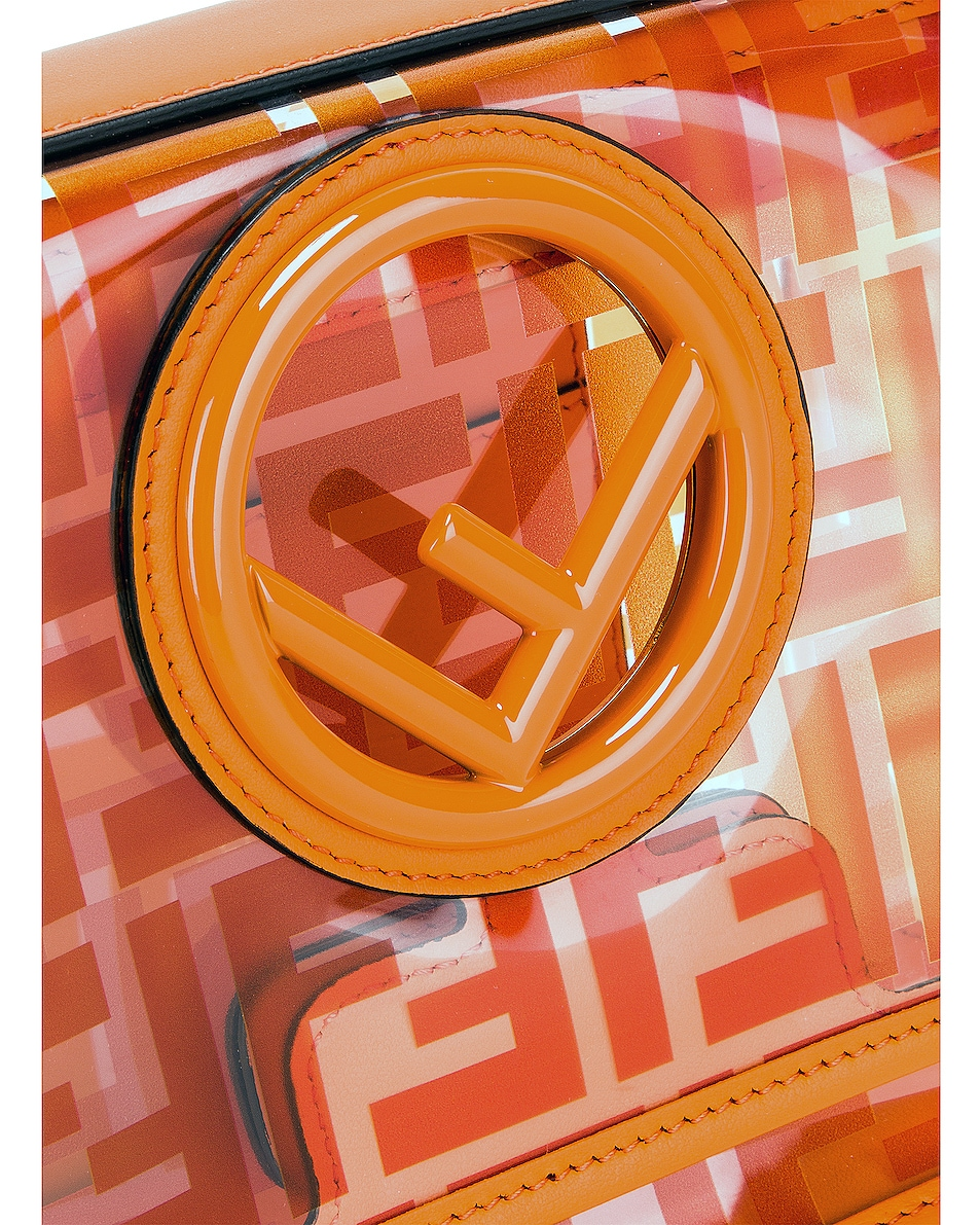 Image 8 of Fendi Kan I Small Logo Crossbody Bag in Orange