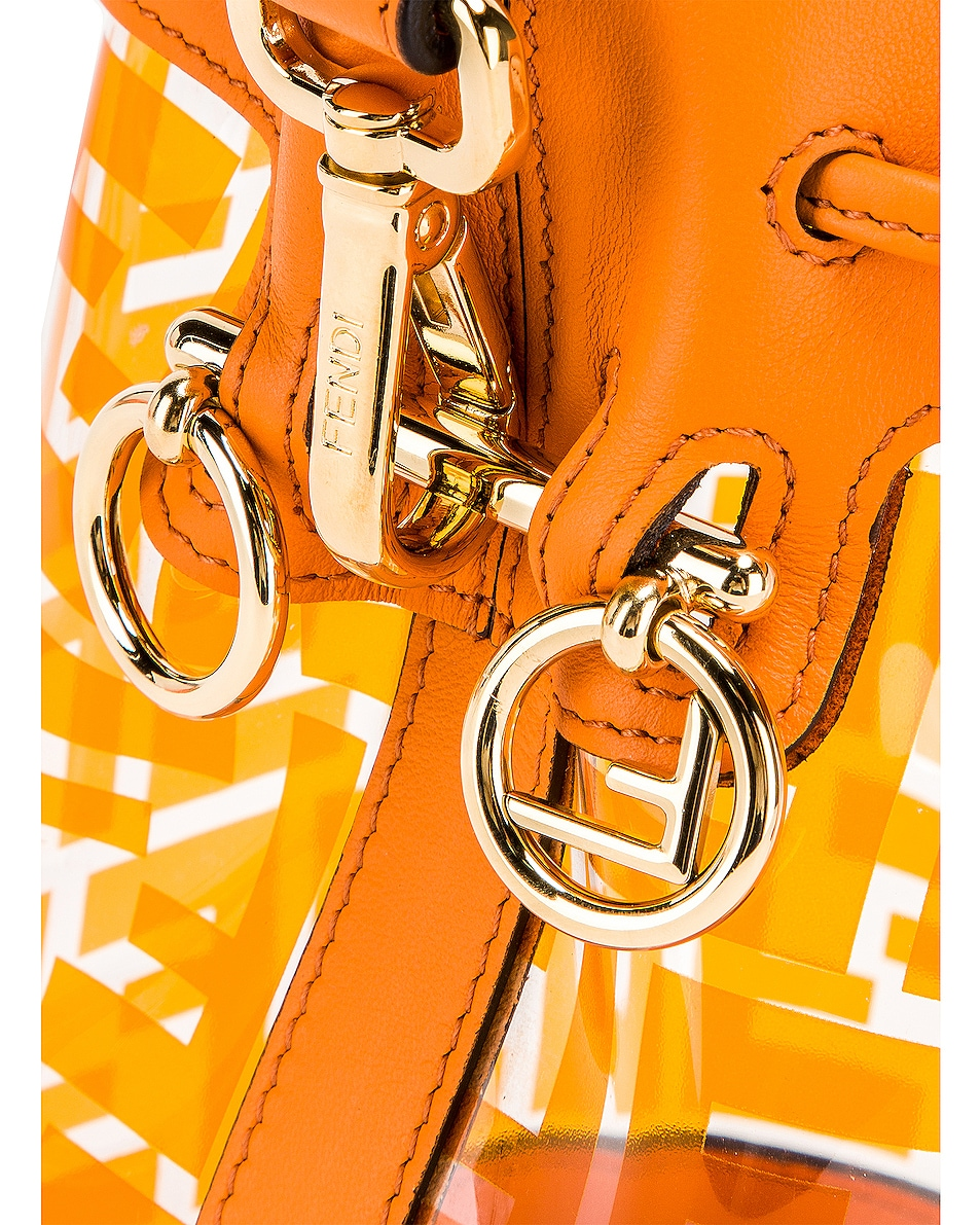 Image 8 of Fendi Mini Mon Tresor Logo Crossbody Bag in Orange