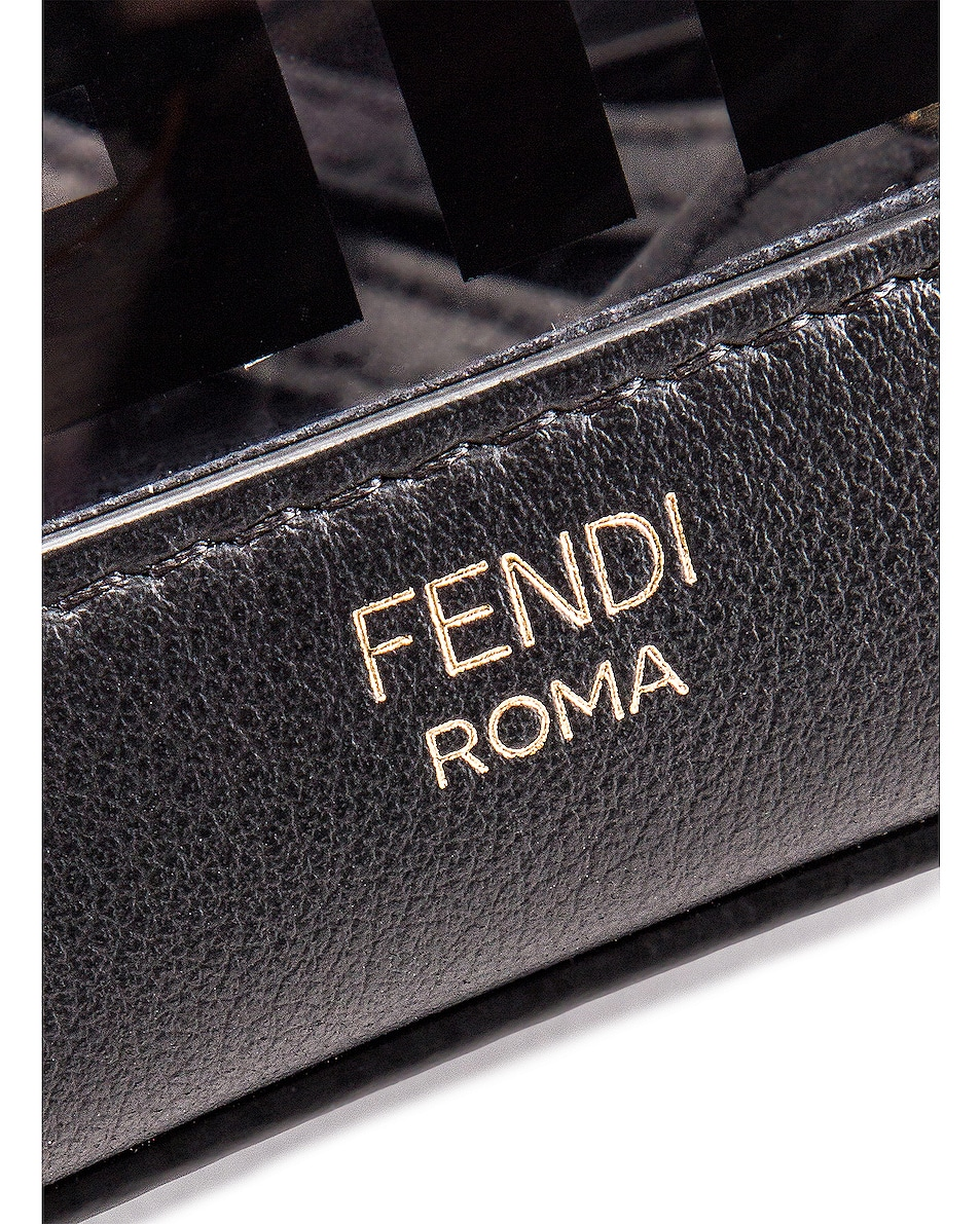 Image 7 of Fendi Mini Mon Tresor Logo Crossbody Bag in Black