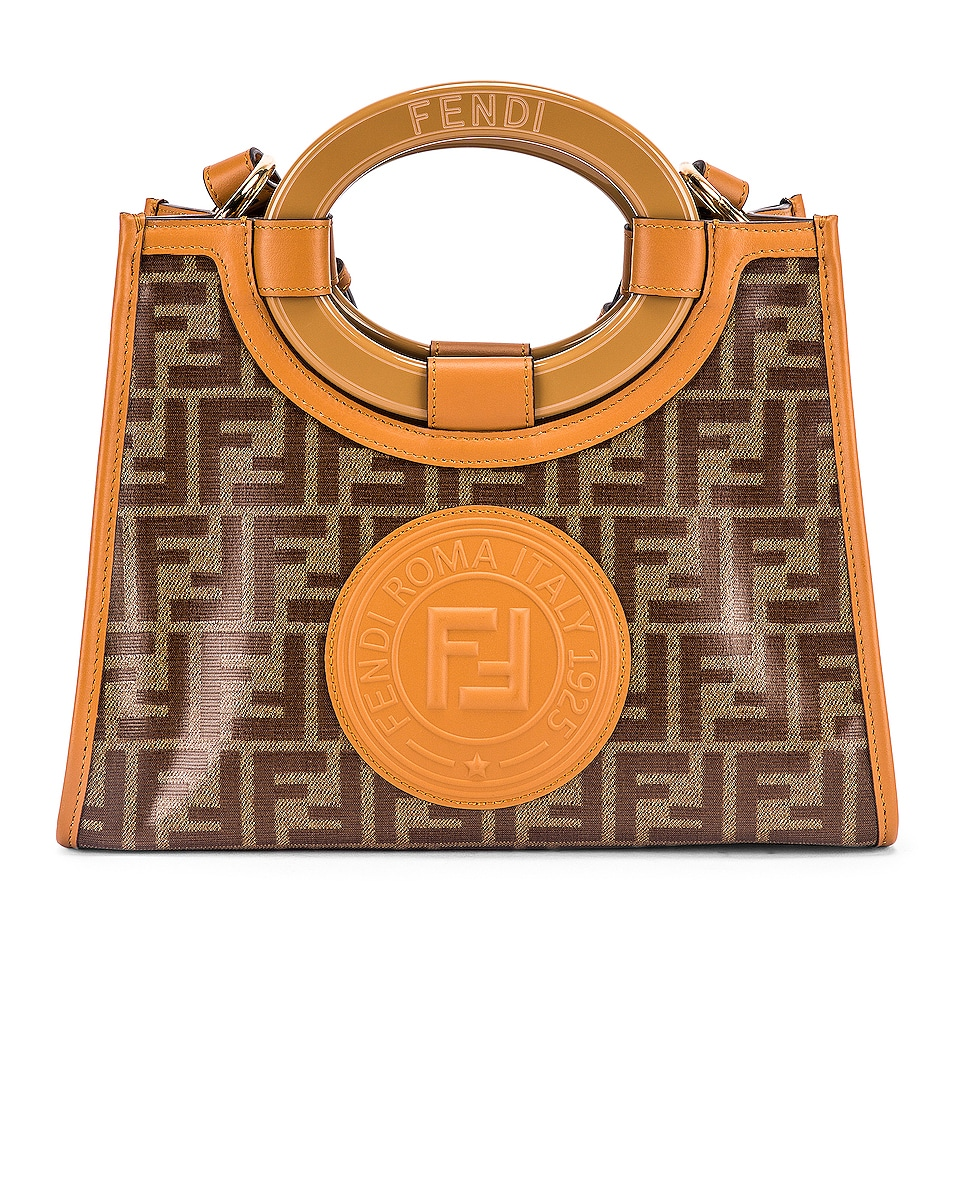 Image 1 of Fendi Small Runway Shopping Bag in Caramel