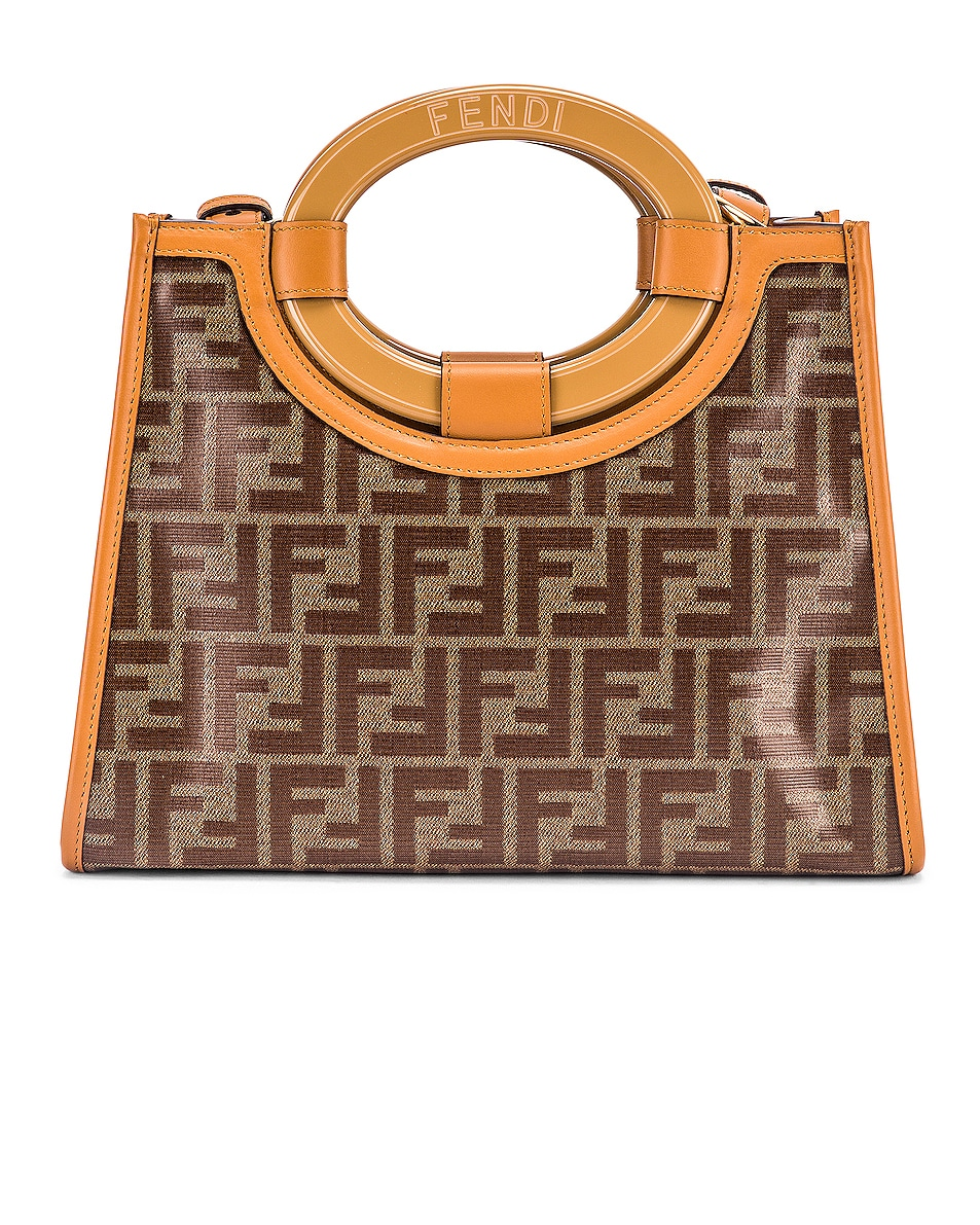 Image 3 of Fendi Small Runway Shopping Bag in Caramel