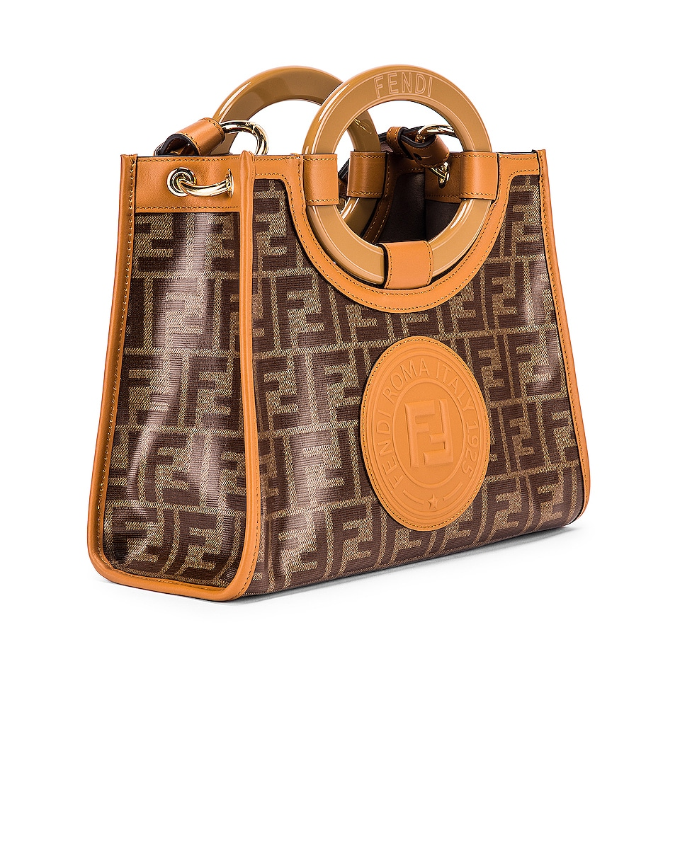 Image 4 of Fendi Small Runway Shopping Bag in Caramel