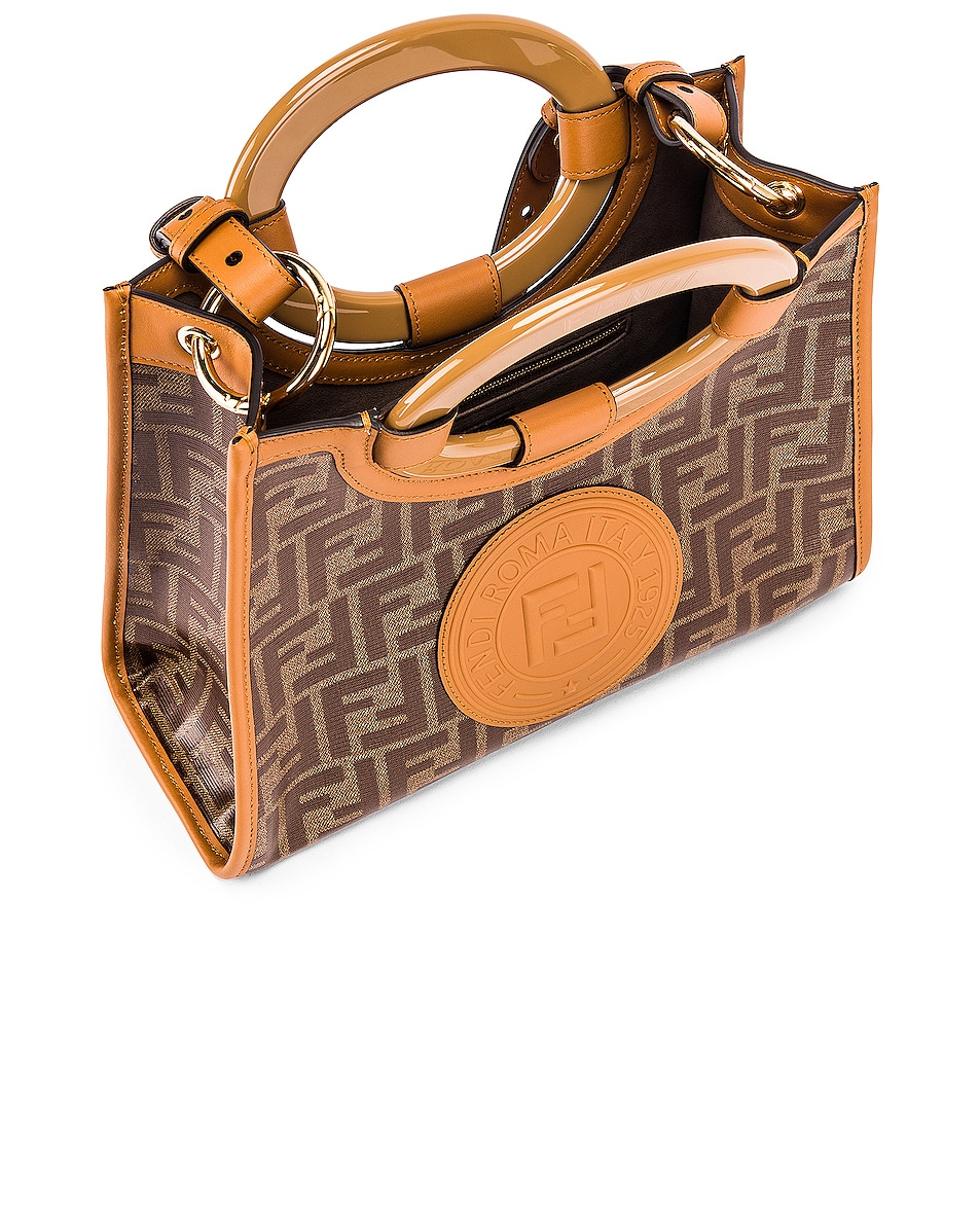 Image 5 of Fendi Small Runway Shopping Bag in Caramel