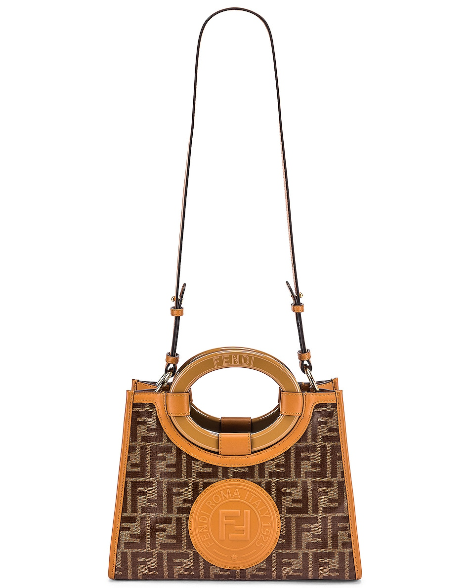 Image 6 of Fendi Small Runway Shopping Bag in Caramel
