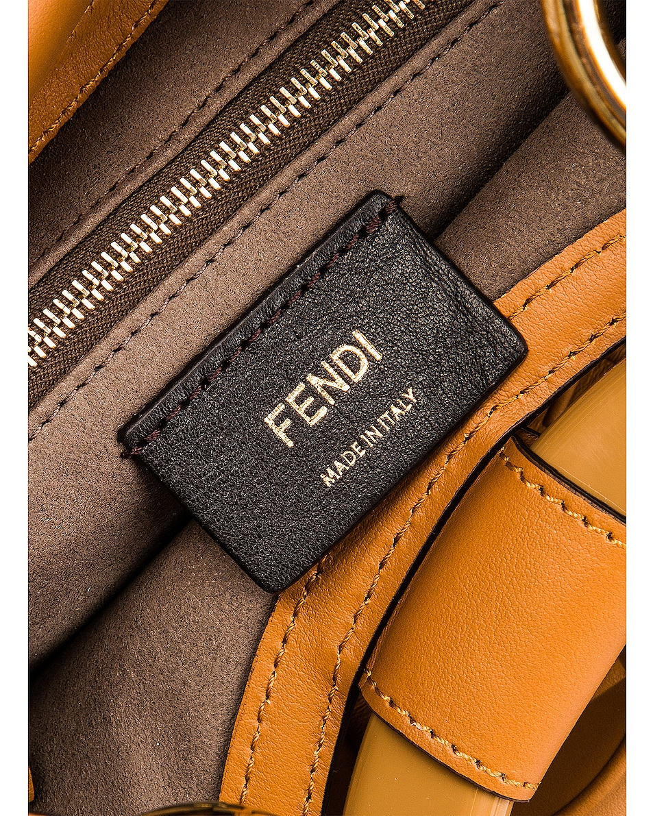 Image 7 of Fendi Small Runway Shopping Bag in Caramel