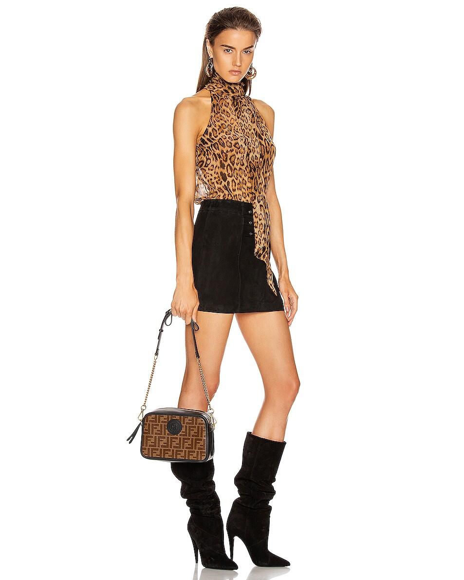 Image 2 of Fendi Tess Camera Crossbody Bag in Black & Brown