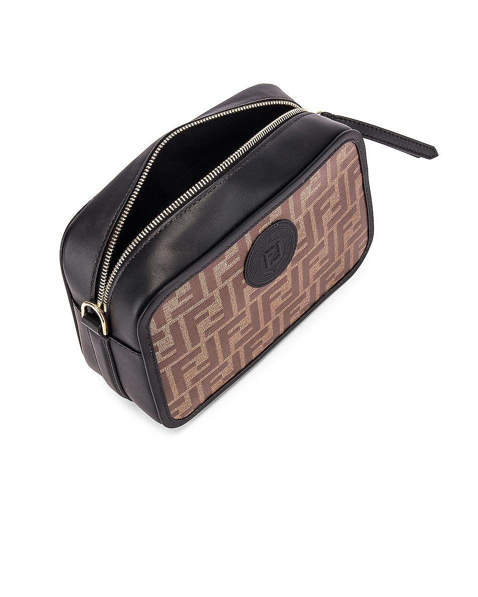 Image 5 of Fendi Tess Camera Crossbody Bag in Black & Brown