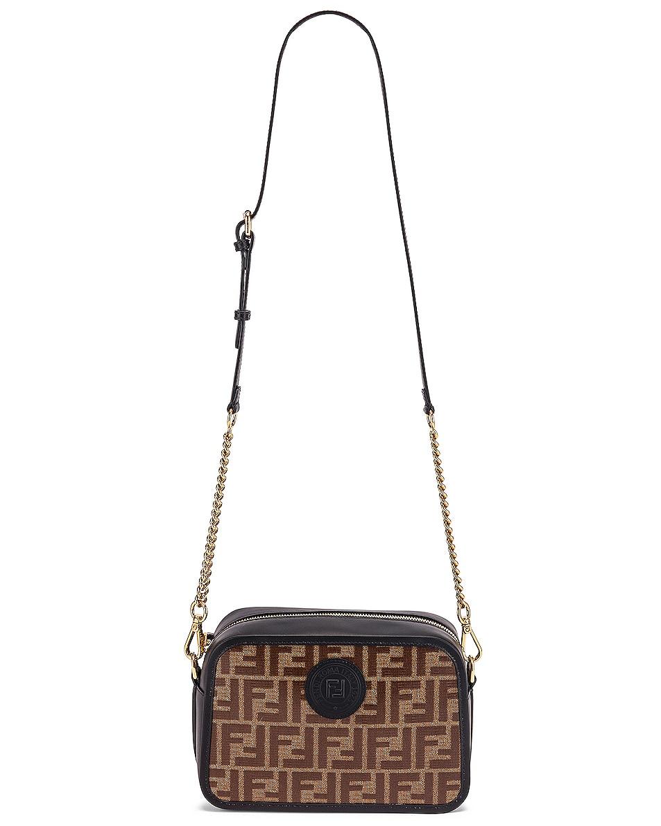 Image 6 of Fendi Tess Camera Crossbody Bag in Black & Brown