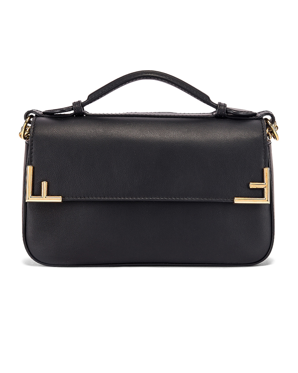 Image 2 of Fendi Small Double F Shoulder Bag in Black