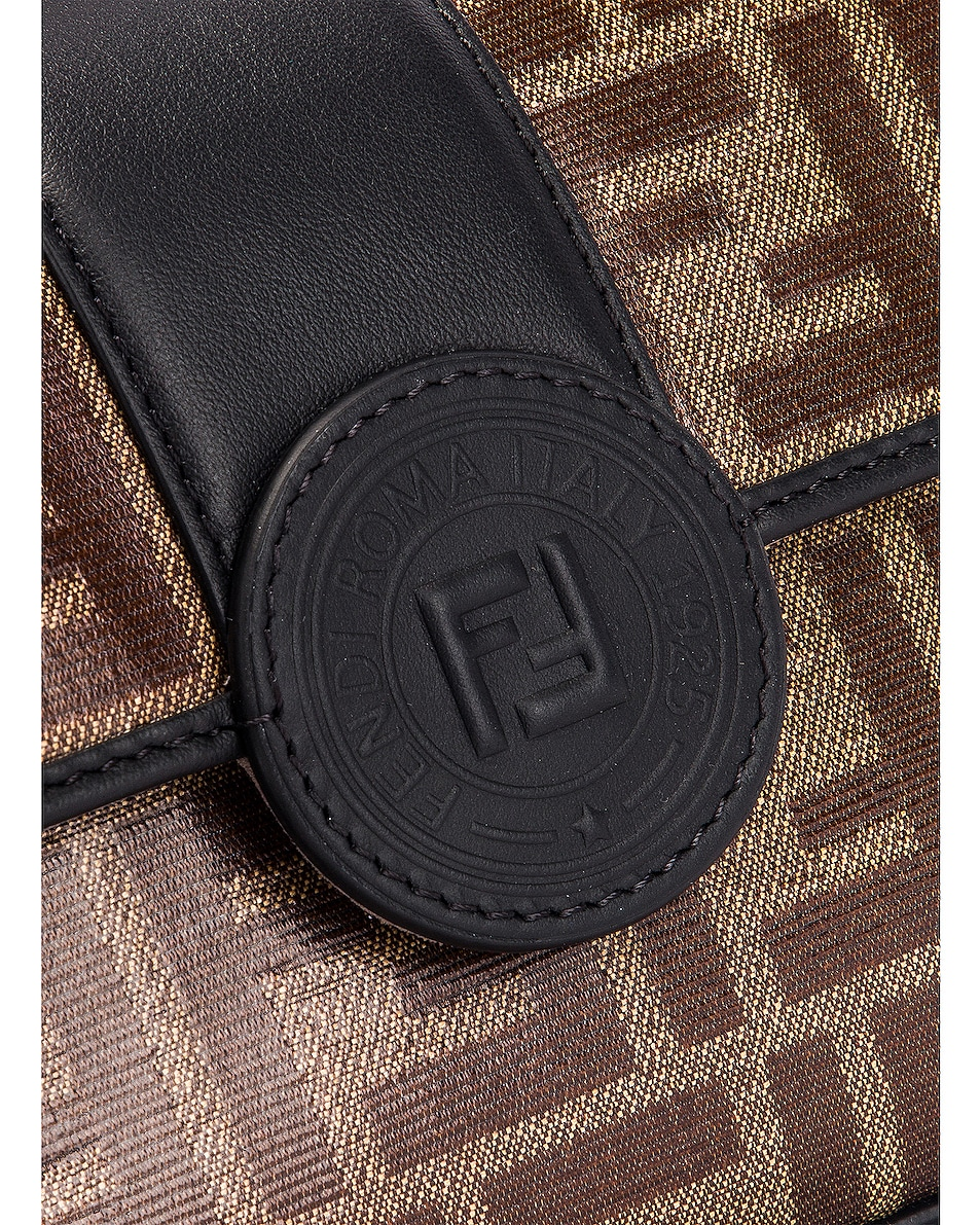 Image 6 of Fendi Small Double F Shoulder Bag in Black