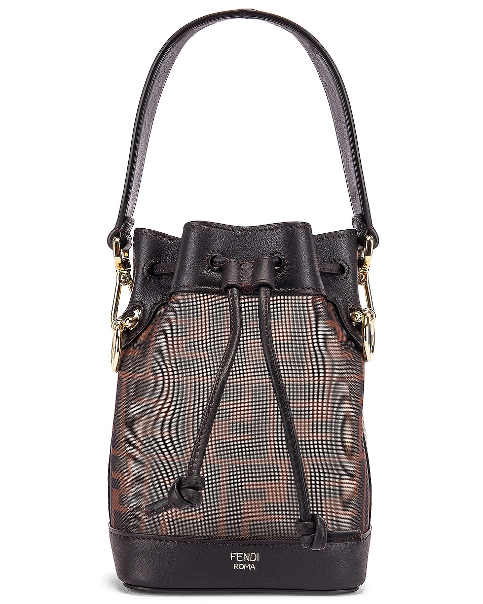 Image 1 of Fendi Mini Mon Tresor FF Bag in Brown & Black