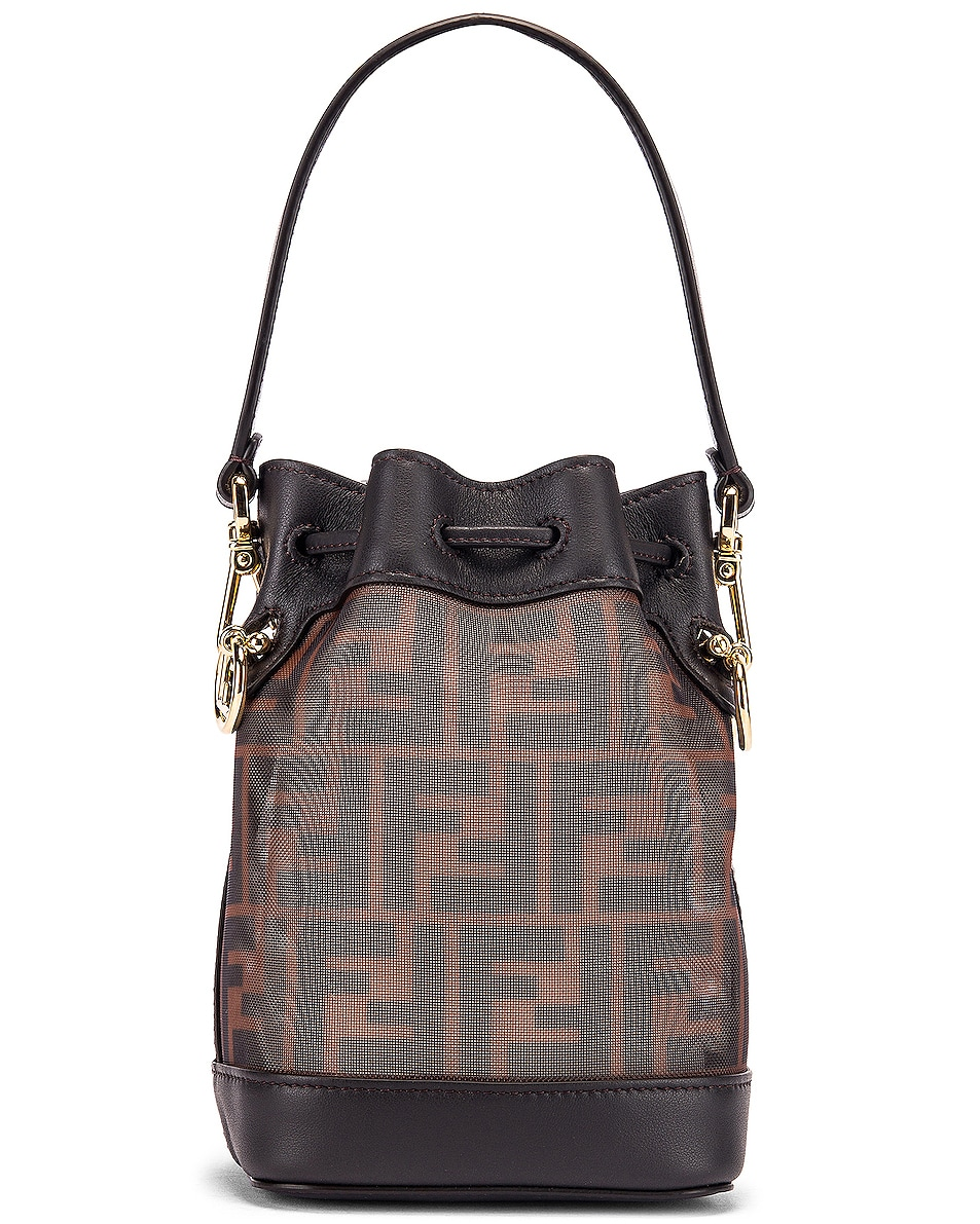 Image 3 of Fendi Mini Mon Tresor FF Bag in Brown & Black
