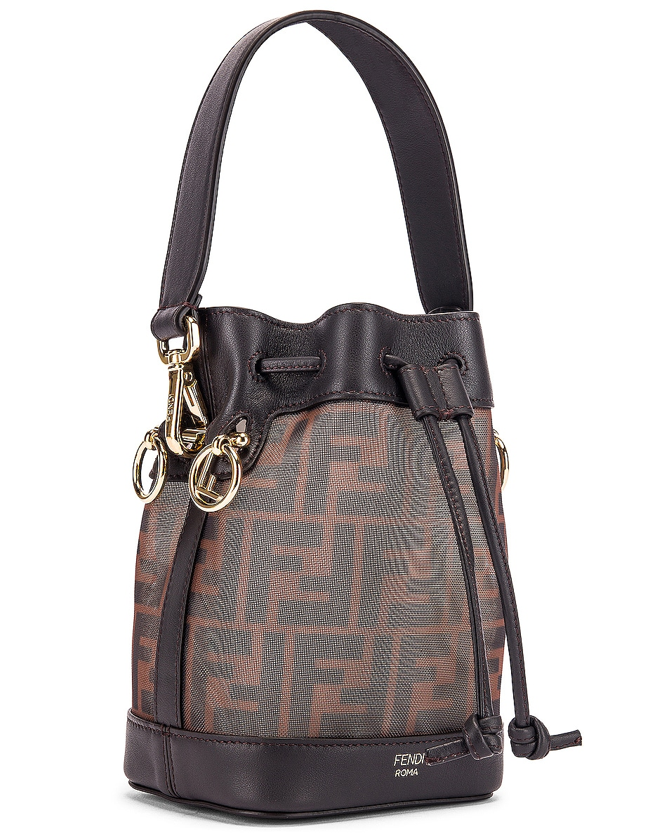 Image 4 of Fendi Mini Mon Tresor FF Bag in Brown & Black