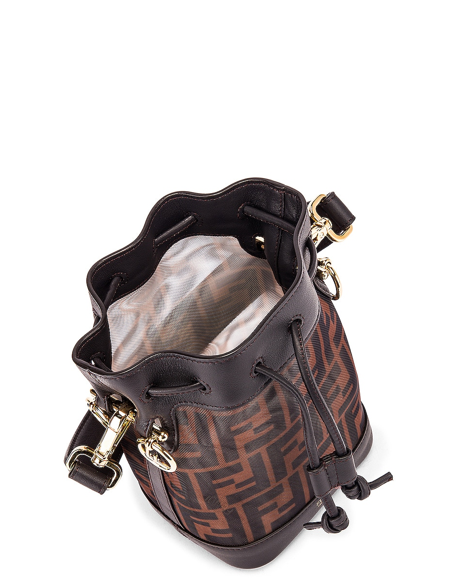 Image 5 of Fendi Mini Mon Tresor FF Bag in Brown & Black