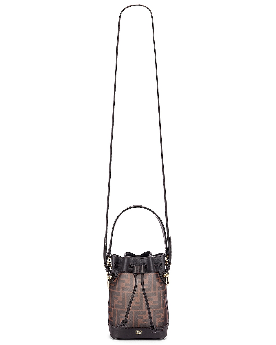 Image 6 of Fendi Mini Mon Tresor FF Bag in Brown & Black