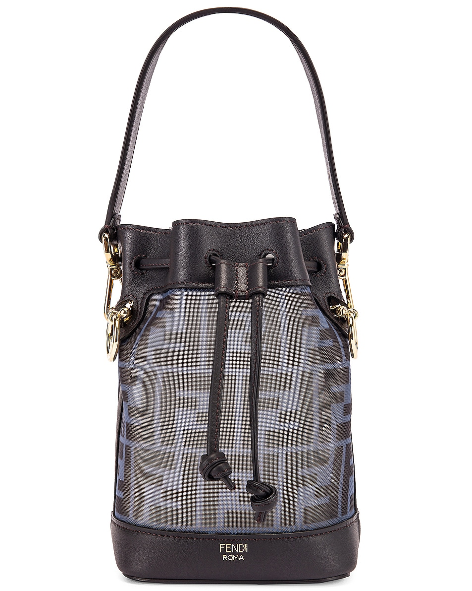 Image 1 of Fendi Mini Mon Tresor FF Bag in Black & Ebony