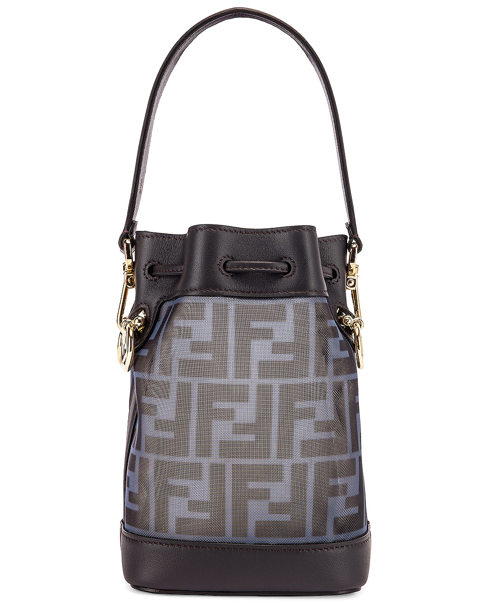 Image 3 of Fendi Mini Mon Tresor FF Bag in Black & Ebony