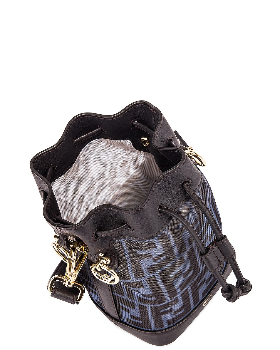 Image 5 of Fendi Mini Mon Tresor FF Bag in Black & Ebony