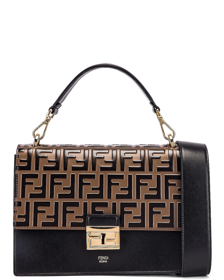 Image 1 of Fendi Kan I Bag in Black