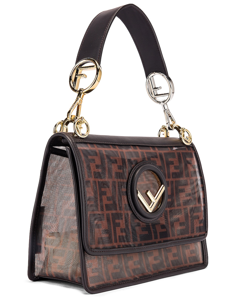 Image 4 of Fendi Kan I Bag in Brown & Black