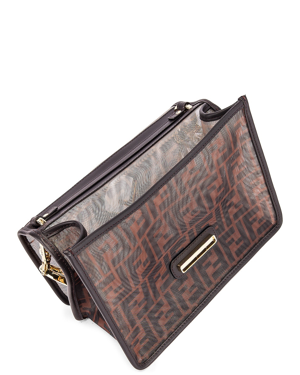 Image 5 of Fendi Kan I Bag in Brown & Black