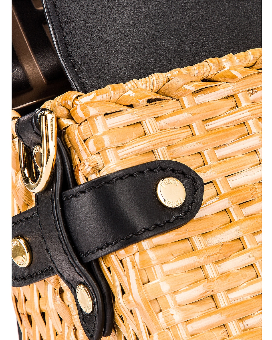 Image 8 of Fendi Mini Flip Crossbody Bag in Black & Natural