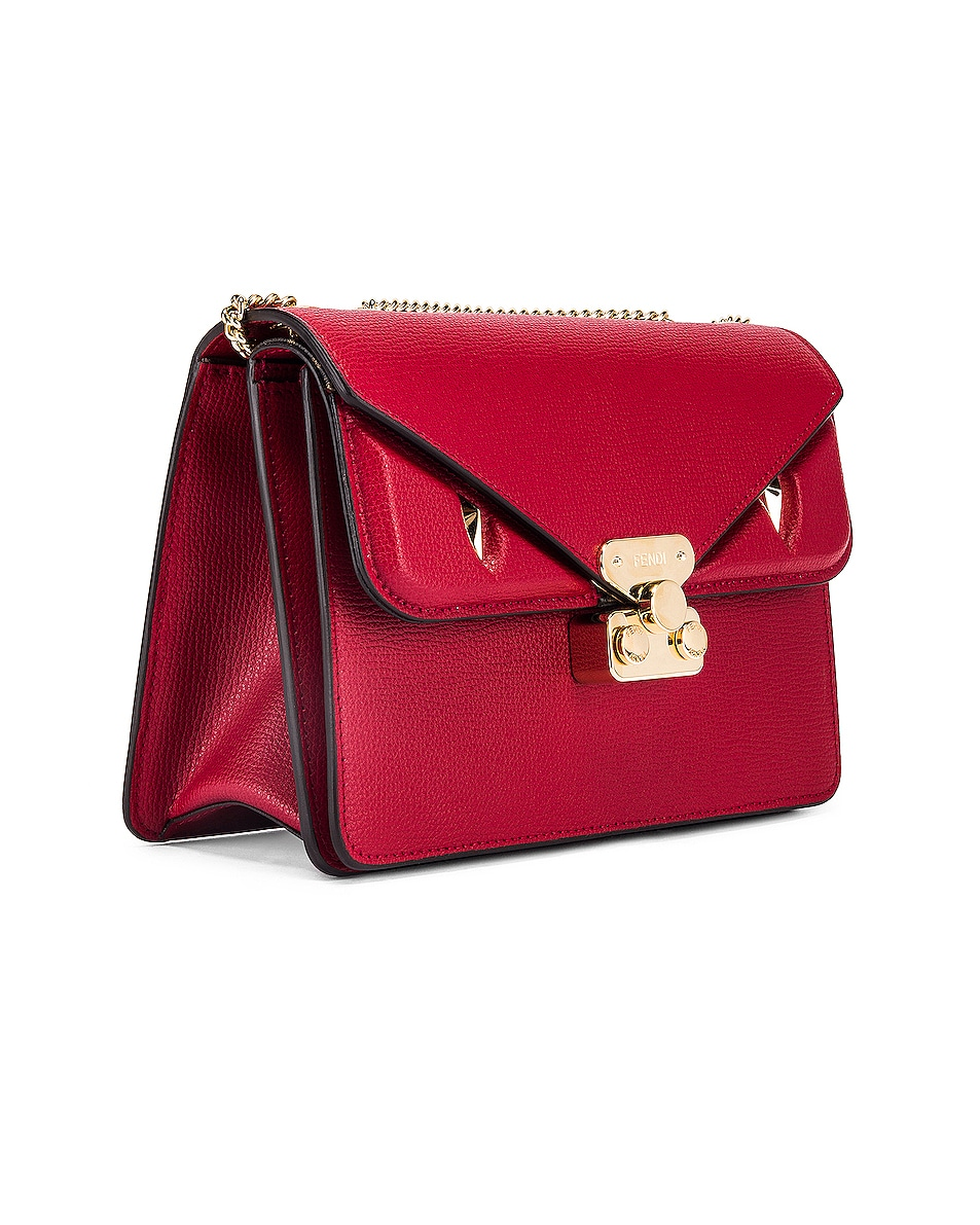 Image 4 of Fendi Chain Bug Bag in Strawberry & Tobacco