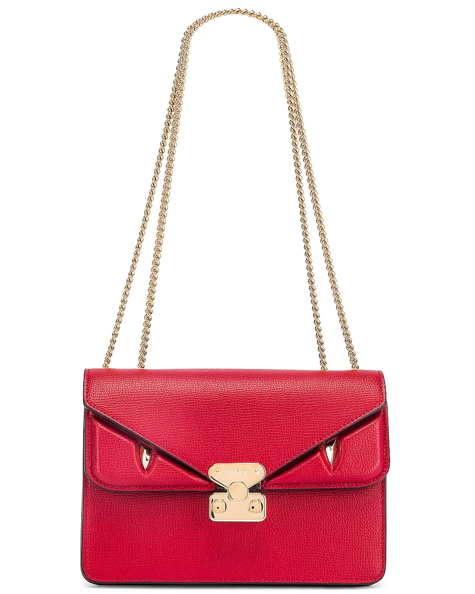 Image 6 of Fendi Chain Bug Bag in Strawberry & Tobacco
