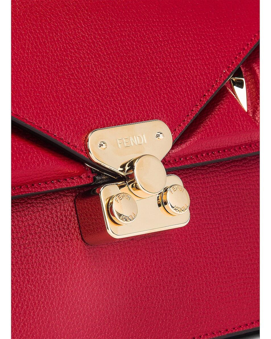 Image 8 of Fendi Chain Bug Bag in Strawberry & Tobacco