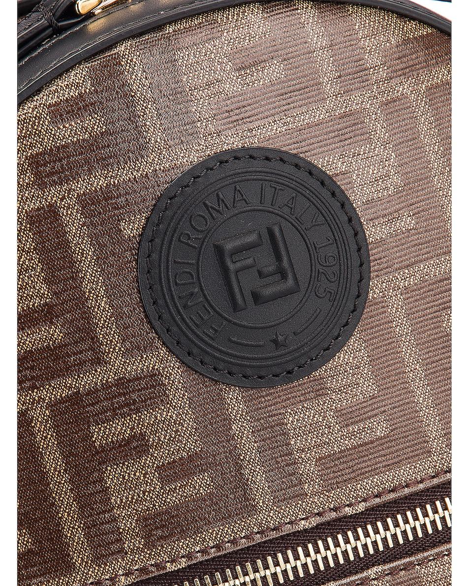 Image 7 of Fendi Mini Logo Backpack in Black
