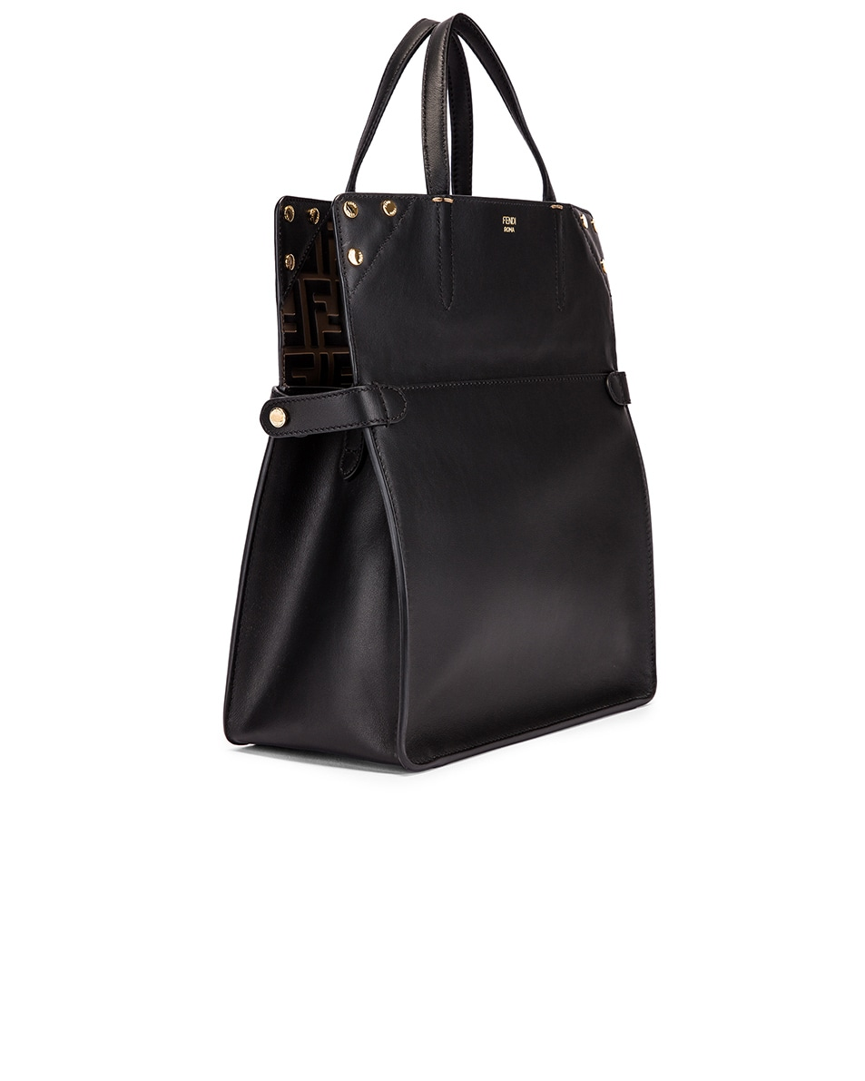 Image 4 of Fendi Small Flip Crossbody Bag in Black