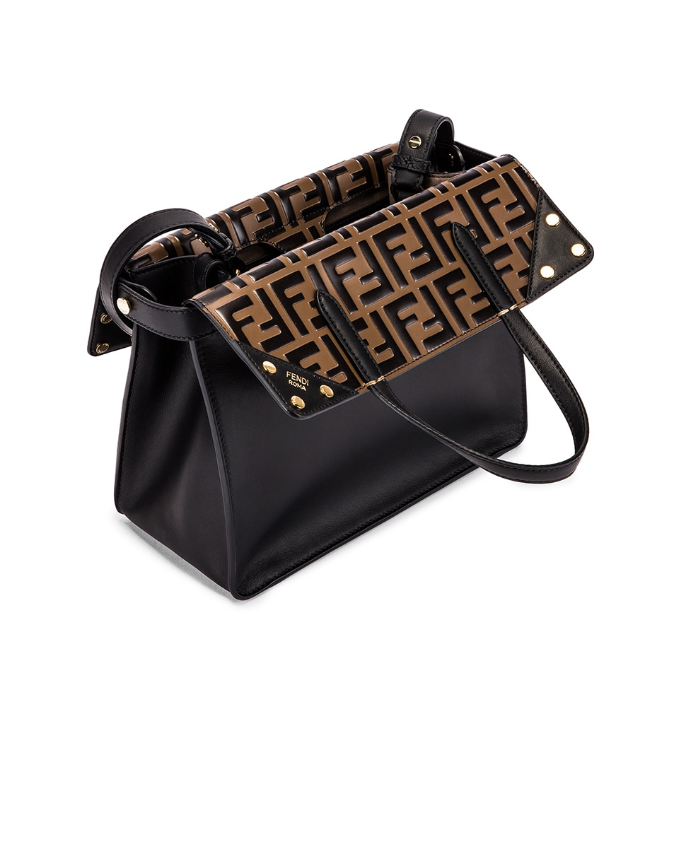 Image 5 of Fendi Small Flip Crossbody Bag in Black