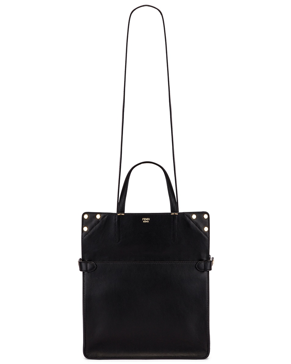 Image 6 of Fendi Small Flip Crossbody Bag in Black