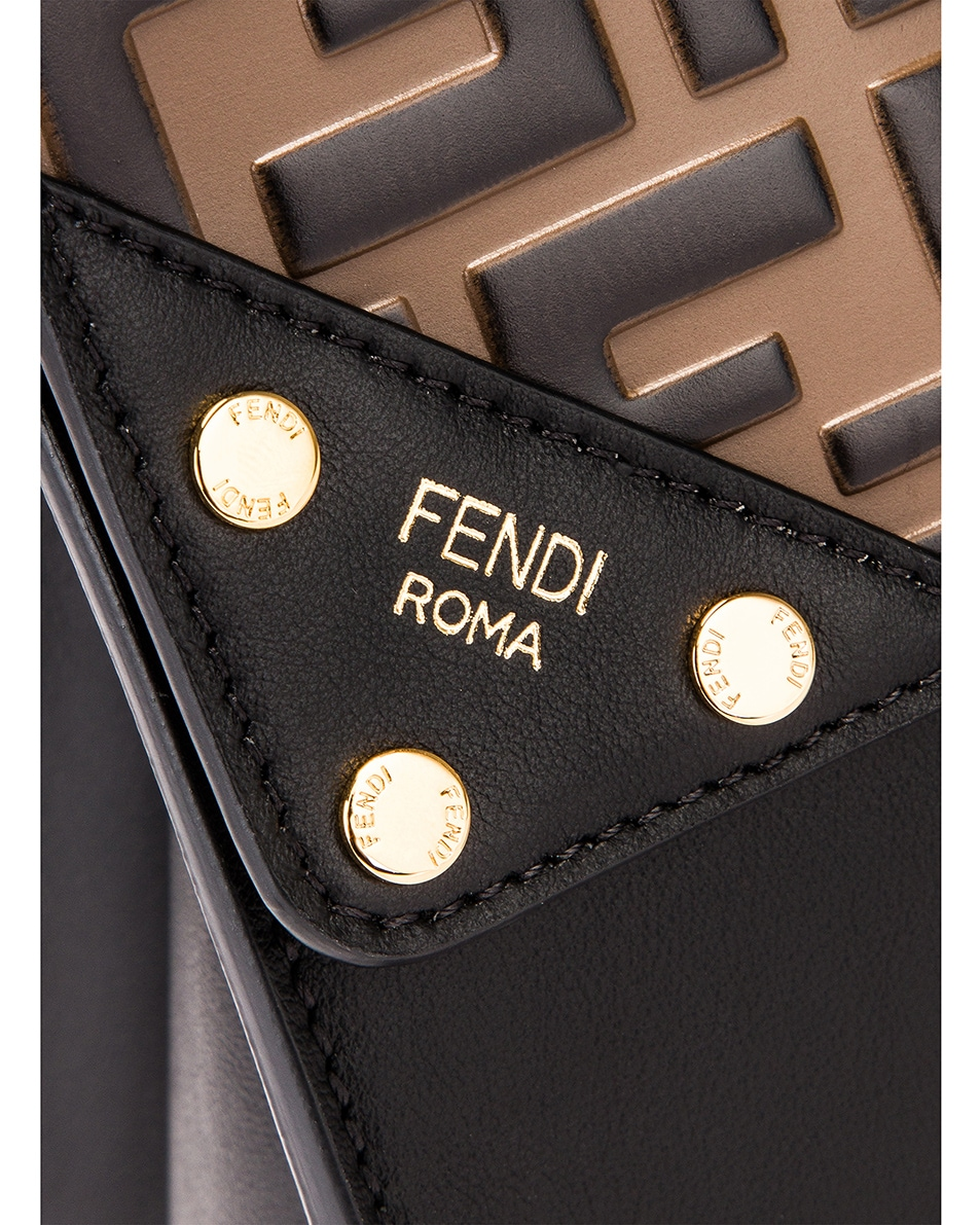 Image 8 of Fendi Small Flip Crossbody Bag in Black