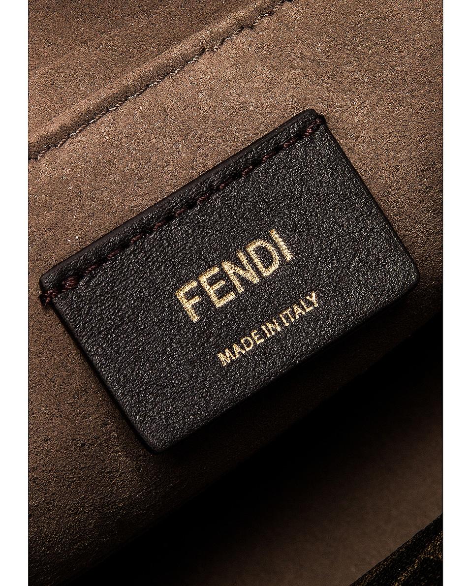 Image 7 of Fendi Chain Bug Bag in White & Tobacco