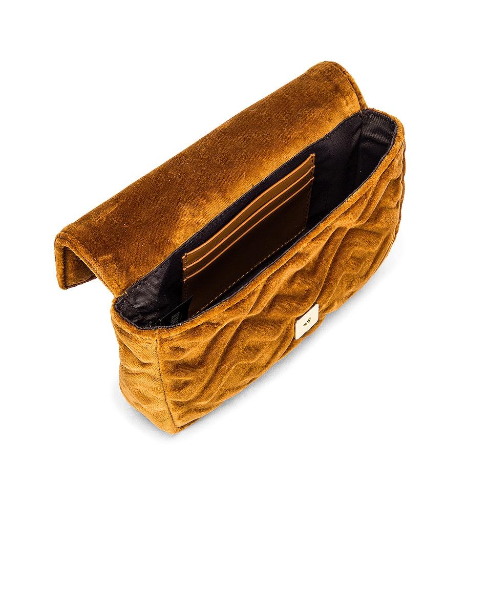Image 5 of Fendi FF Velvet Hip Belt Bag in Caramel