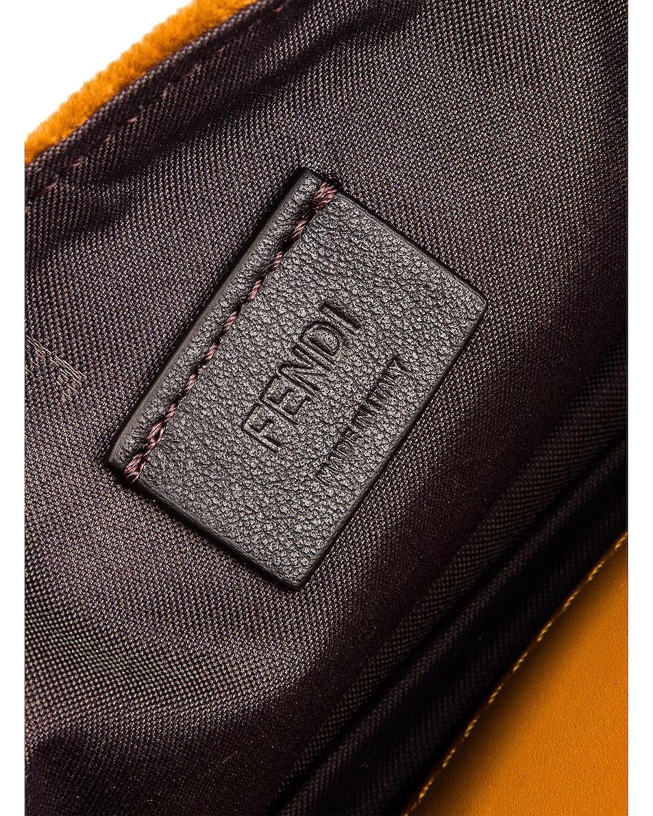 Image 6 of Fendi FF Velvet Hip Belt Bag in Caramel