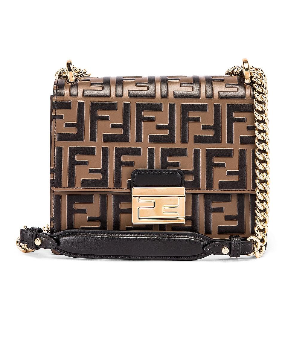 Image 1 of Fendi Small FF Kan I Bag in Black & Brown