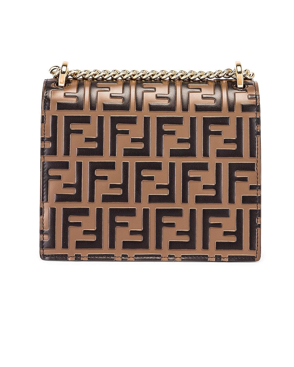 Image 3 of Fendi Small FF Kan I Bag in Black & Brown