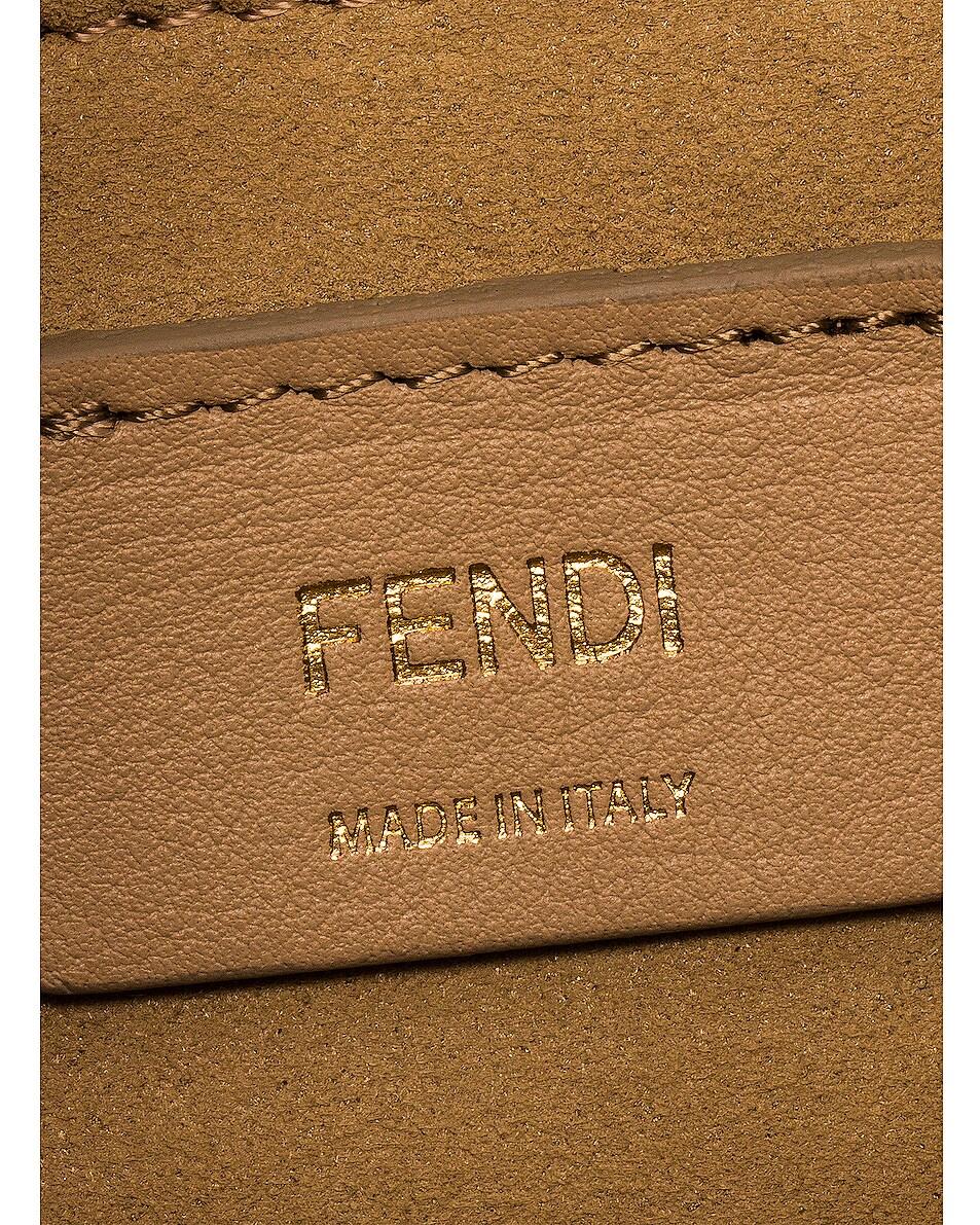 Image 7 of Fendi Small FF Kan I Bag in Black & Brown