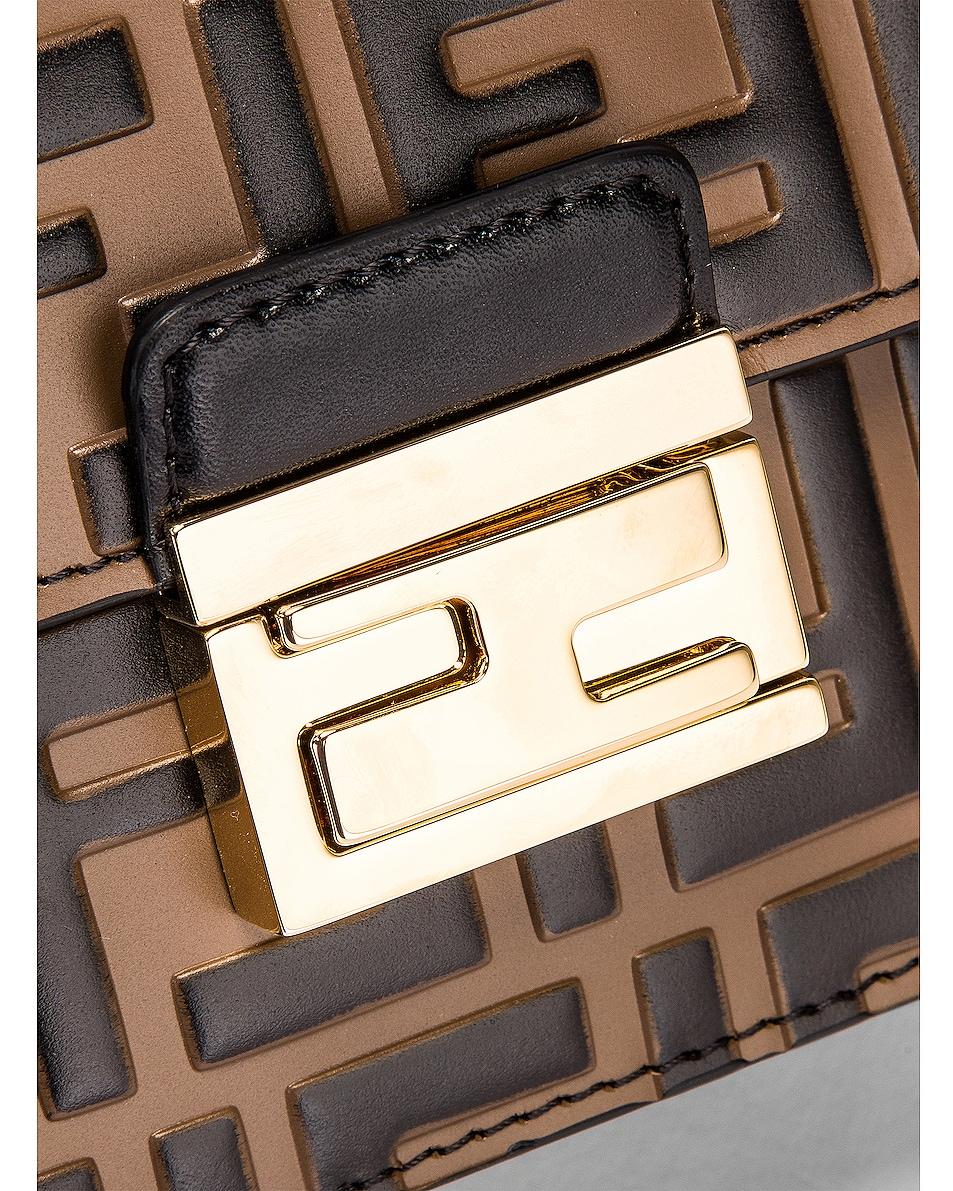 Image 8 of Fendi Small FF Kan I Bag in Black & Brown