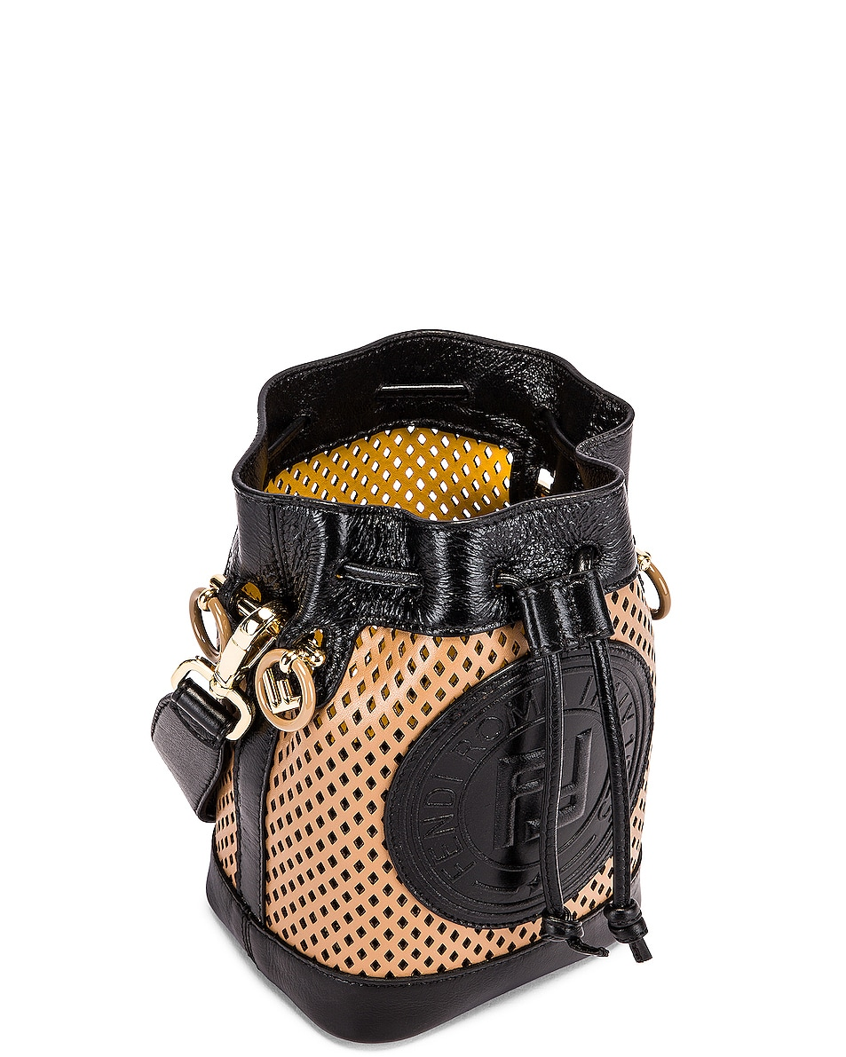 Image 4 of Fendi Mini Mon Tresor Bucket Bag in Sand & Black