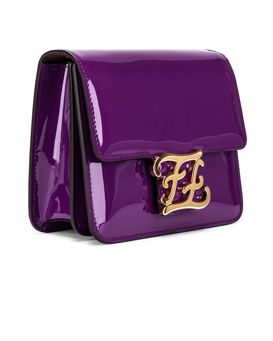 Image 3 of Fendi Karligraphy Mini Bag in Purple