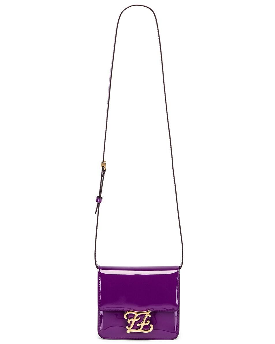 Image 5 of Fendi Karligraphy Mini Bag in Purple