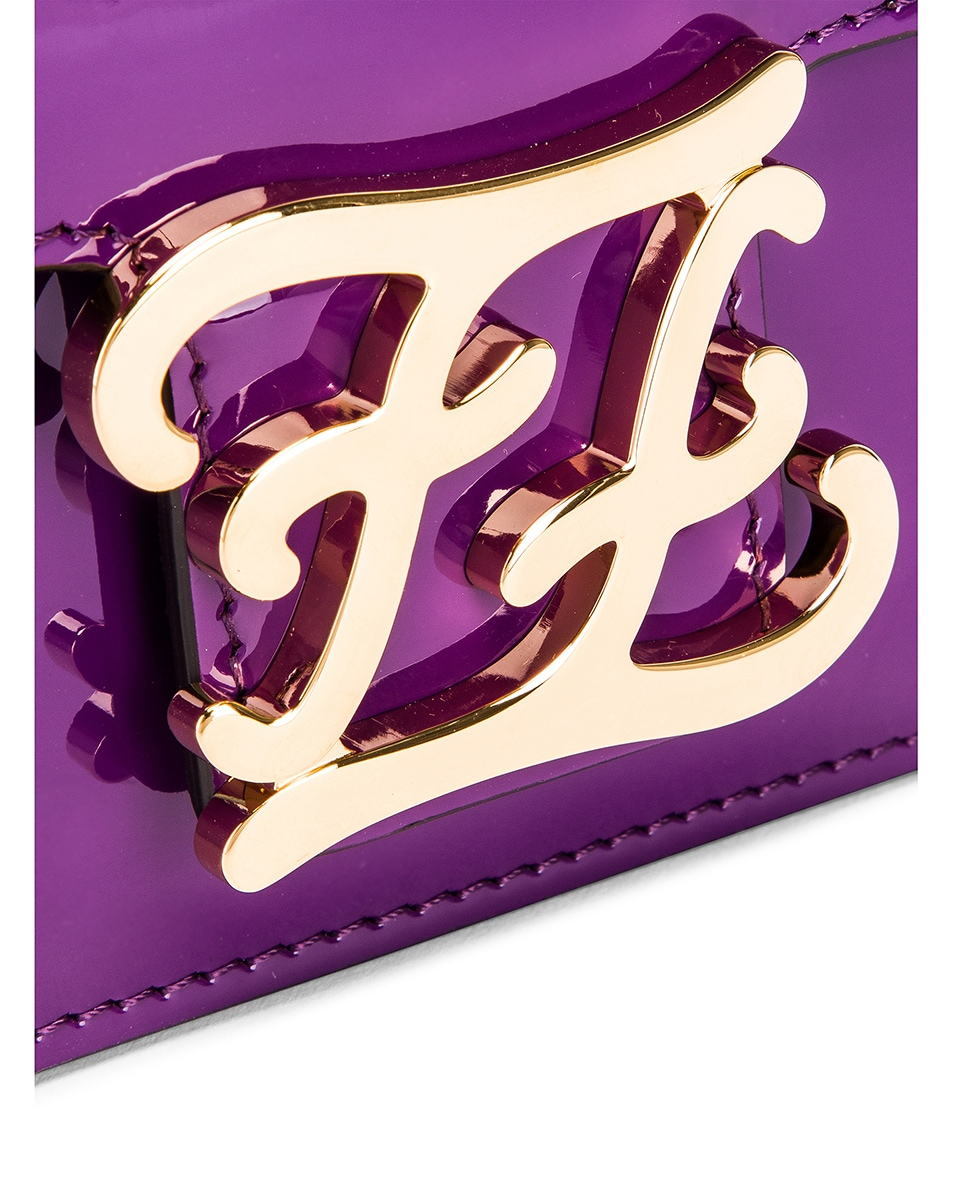 Image 7 of Fendi Karligraphy Mini Bag in Purple