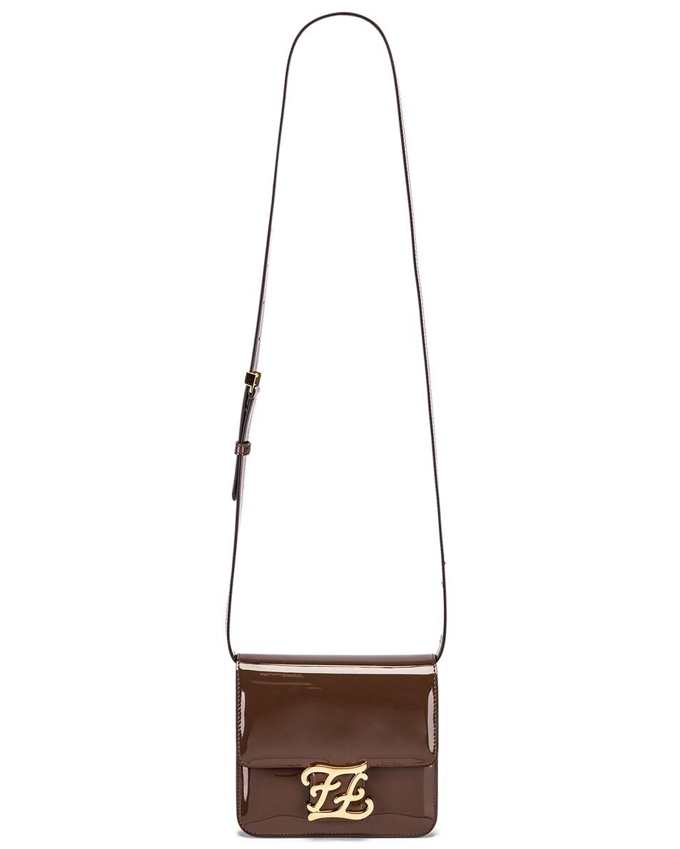 Image 6 of Fendi Karligraphy Mini Bag in Brown