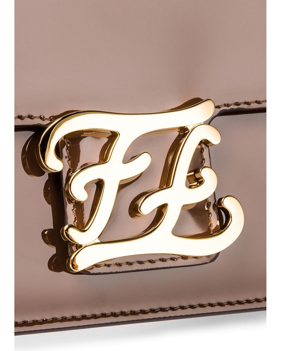 Image 8 of Fendi Karligraphy Mini Bag in Brown