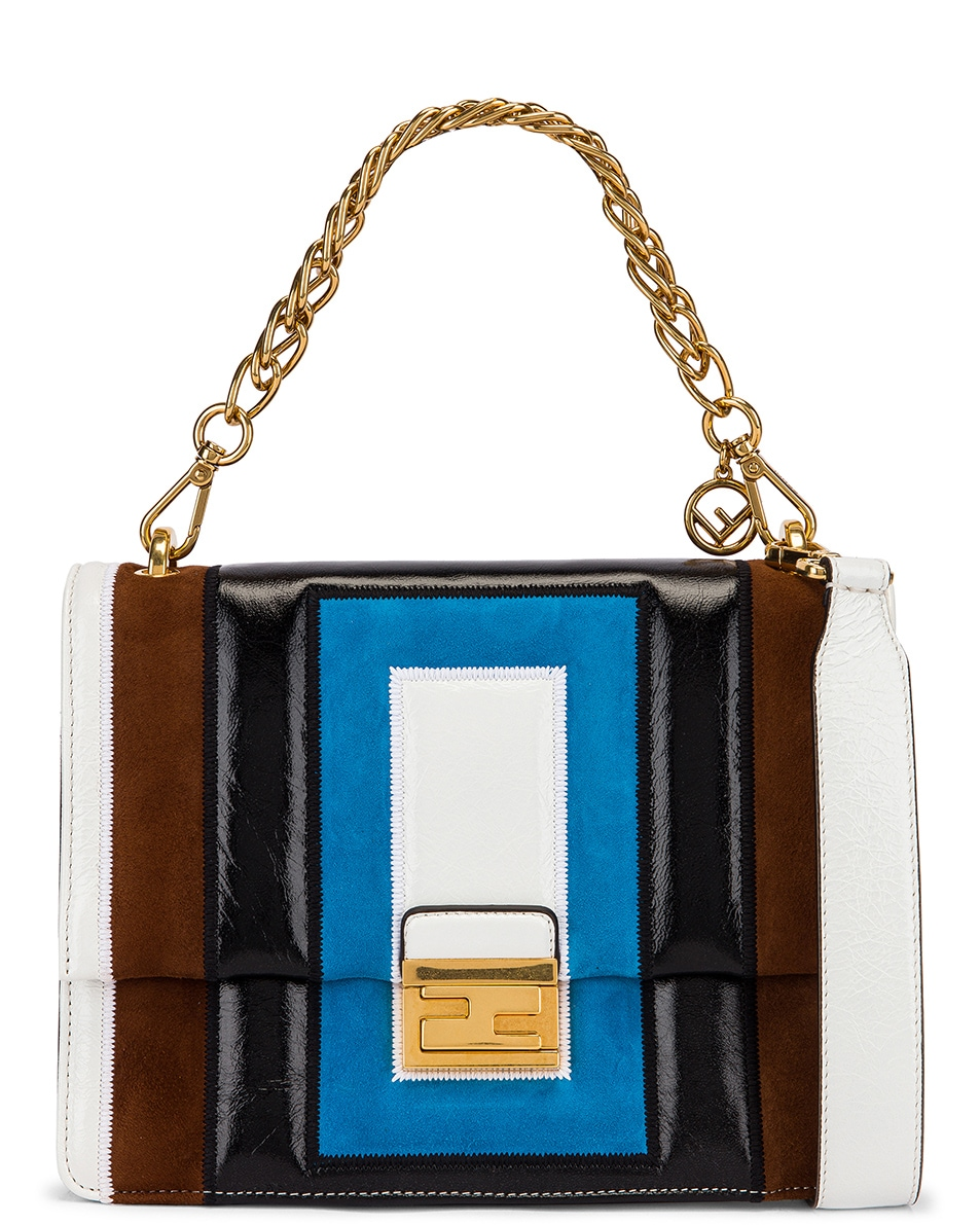 Image 1 of Fendi Embossed Kan U Bag in Multi