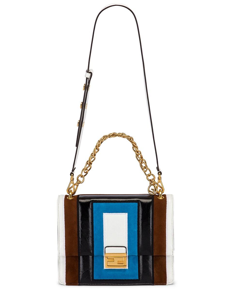Image 6 of Fendi Embossed Kan U Bag in Multi